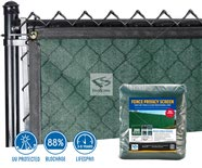 200 Series Baseball Enviro Privacy Fence Screen - Green Install & Product