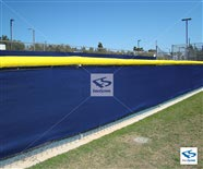 200 Series -Enviro Privacy Screen - Navy Blue with Yellow Fence Cap