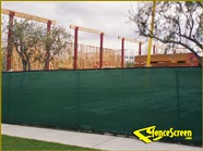 200 Series - Green on Temp Fence Construction Site