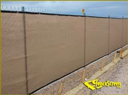 200 Series - Tan Enviro Privacy screen on fence