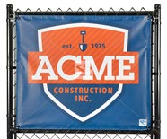 Outdoor Fence Banners - MAXFlex Solid Vinyl