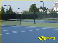500 Series - Vinyl Coated Poly  Tennis Court  - Green