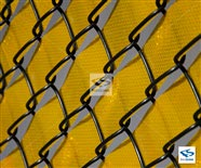 Gold Reflective Safety Fence Tape - Close Up