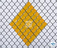 Gold Reflective Safety Fence Inserts - Diamond Shape idea