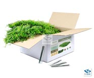 NartaHedge Faux Fern Mat Open Box