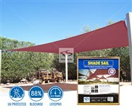 Rectangle Sun Shade Sails - Burgundy Install