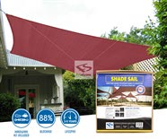Square Sun Shade Sails - Burgundy Residential Install