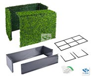 All Parts of Boxwood Hedge with Planter Box