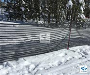 Black Snow Fence