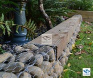 Chicken Mesh Wire used as a Gabion