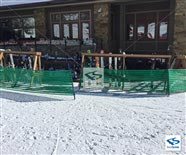 Green Snow Barrier Fence