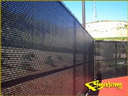 600 Series - Open Mesh Poly - Tennis Court with Center Binding - Black