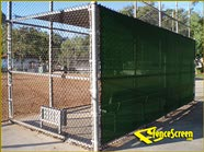 2000 Series - Sun Shade Cover Ball Field - Green