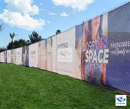 Custom Printed Full Color Fence Wrap
