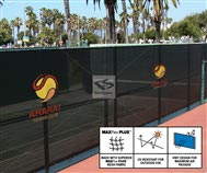 Sport Facility Black Tennis Court Fence Screen