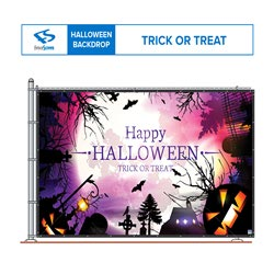 Trick or Treat 10' x 6' on fence mockup