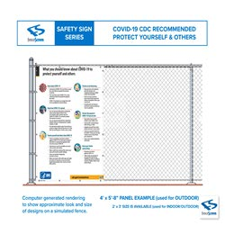 COVID-19 CDC Construction Jobsite Banners - Protect yourself and others