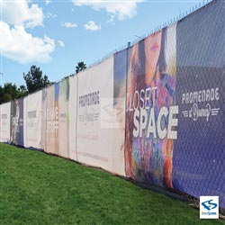 Custom Printed Fence Wraps for Future Shopping Plaza