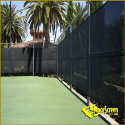 600 Series -Open Mesh Poly - Tennis Court - Black
