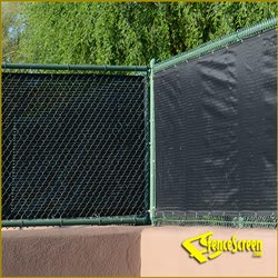 600 Series - Open Mesh Poly - Fence Corner Wrap - Black