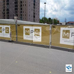 Under Construction Site Fence Wraps