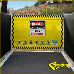 FenceScreen Safety Gate - Yellow 4