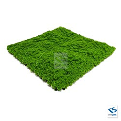 Faux Evergreen Moss Mat - 3 Quarter View