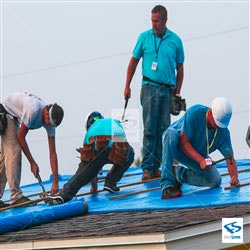 FEMA Spec Plastic Sheeting Roofing Material - Blue