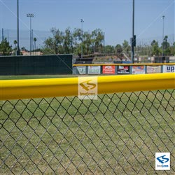 Baseball Field Yellow Safety Fence Topper
