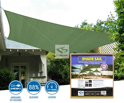 Square Shade Sail - 1625 Series 88%