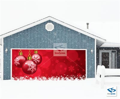 Holiday in Red Patio Screen - Holiday Patio Screen 80%