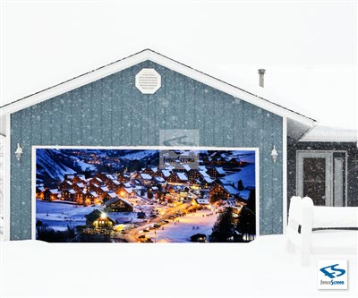 Alps Village Patio Screen - Holiday Patio Screen 80%