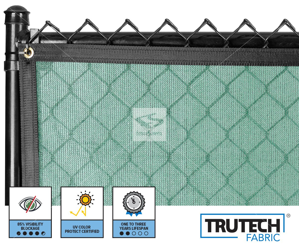 Temporary Fence Privacy Screen Green