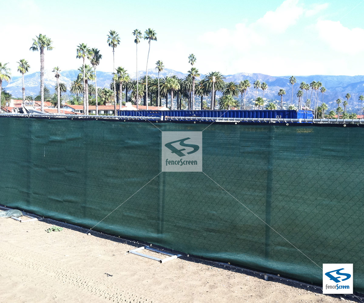 Temporary Fence Privacy Screen Green Black Tan Amp Blue