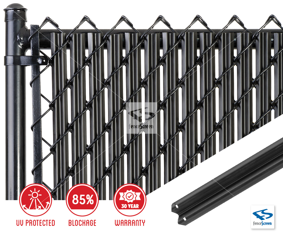 W Slat With Bottom Lock For Chain Link Fence
