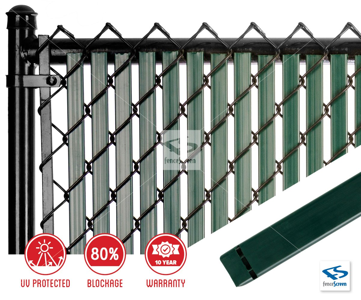 Picture of: Dura Slat With Bottom Lock For Chain Link Fence