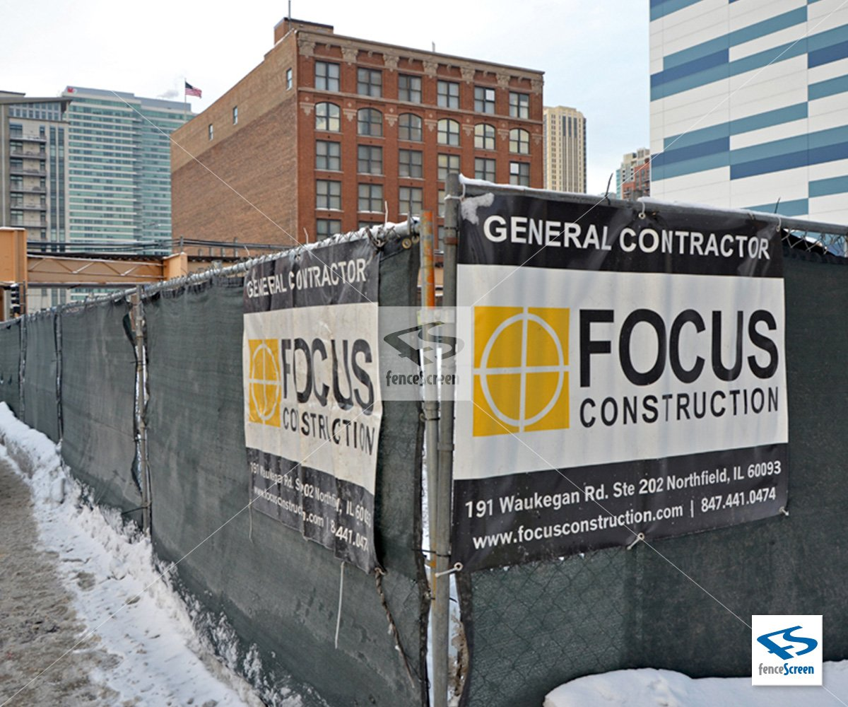 Custom Construction Fence Banners Amp Company Logo Signs For