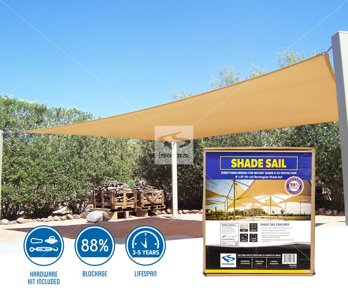 Rectangle Shade Sails For Residential Commercial Area