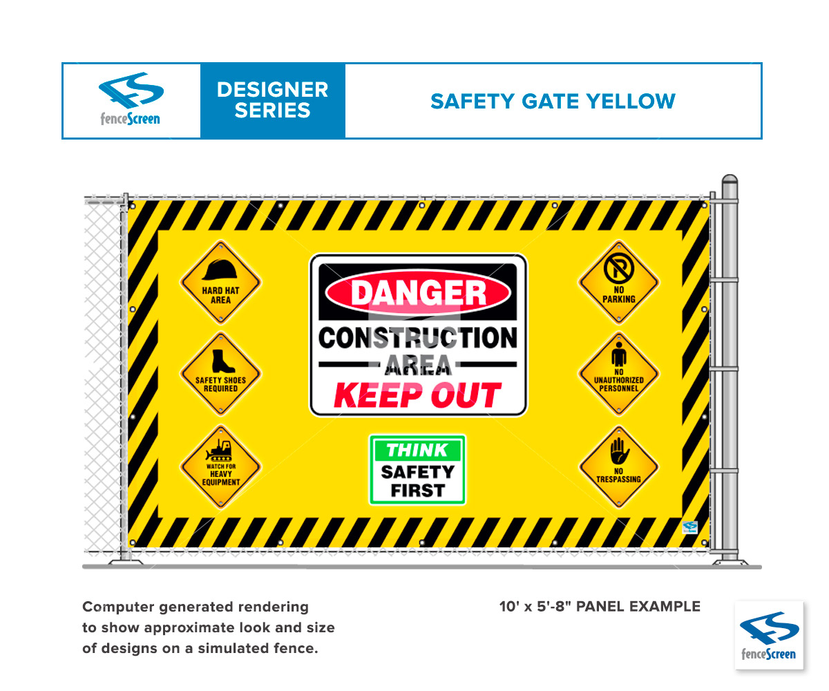 Construction Safety Gate Designs On Fence Screen