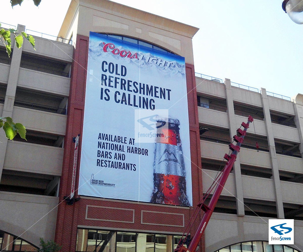 Large banners for buildings arts arts for Banner wrap