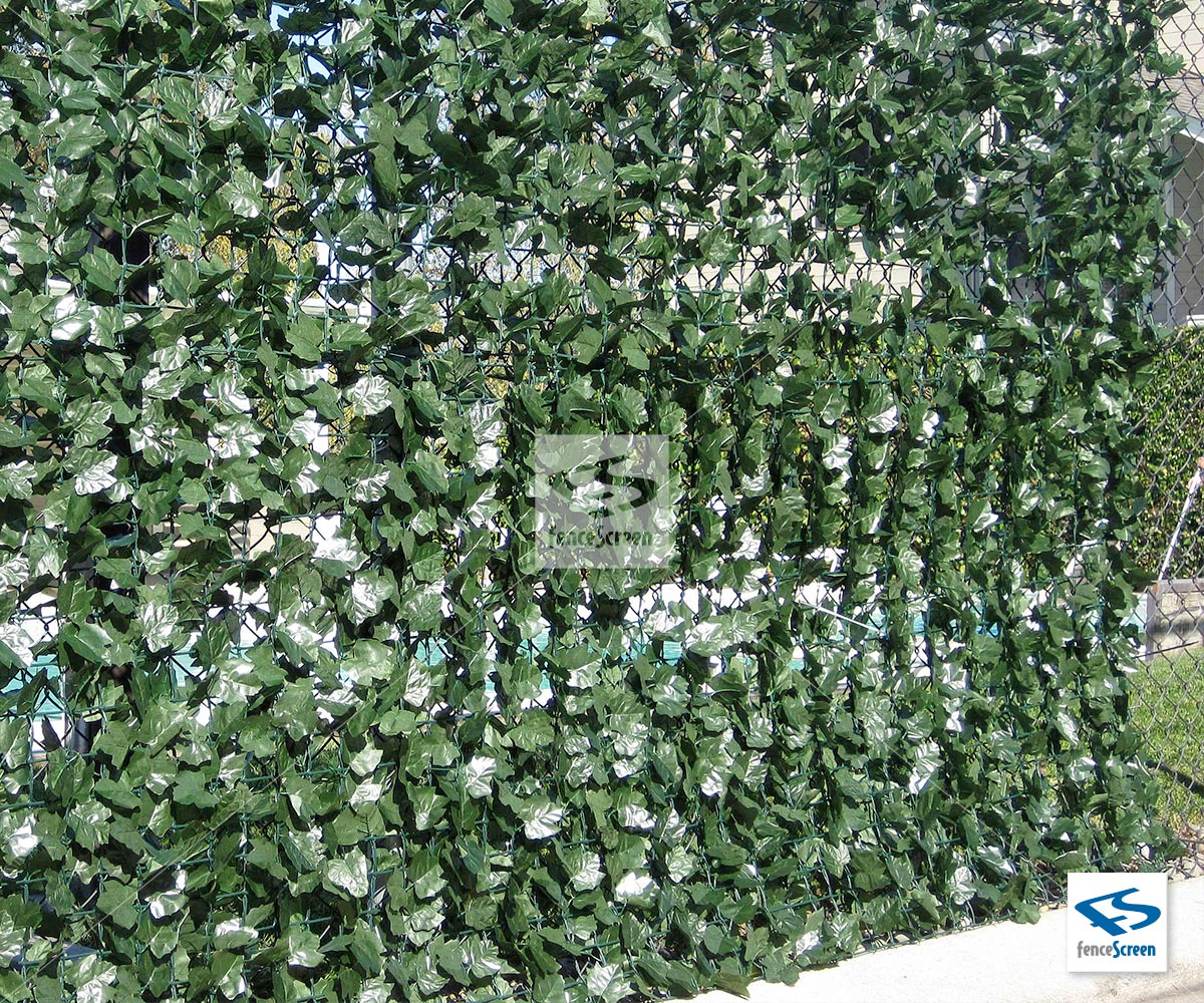 Artificial Dark Green Silk Ivy Privacy Fence Roll By