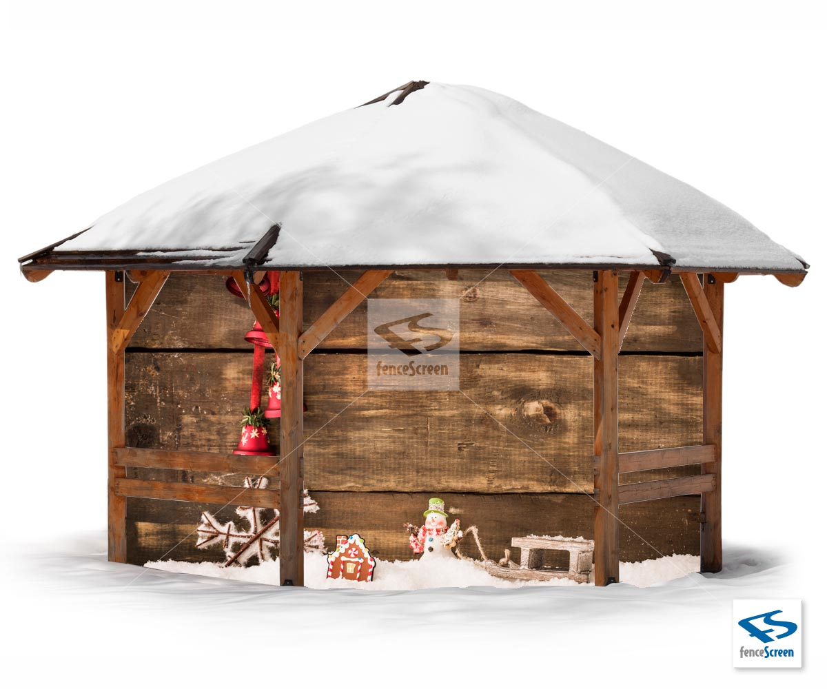 Rustic Holiday Patio Screen