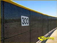 Baseball Open Mesh -Windscreen 600