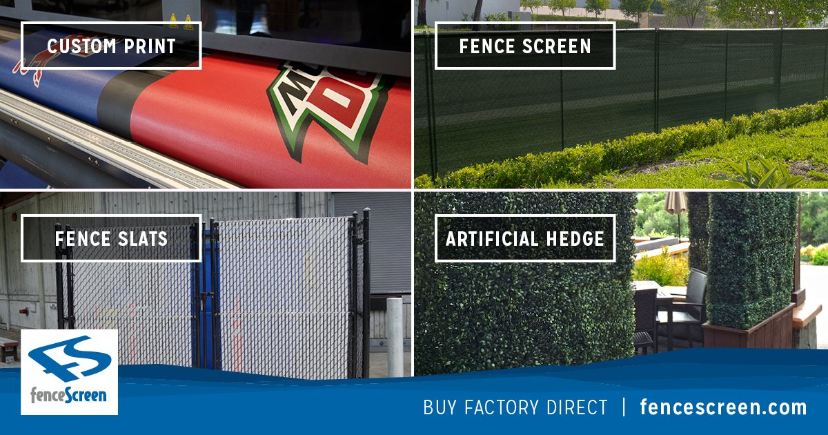 Construction Fence Screen Mesh Fabric, Tarps & Covers