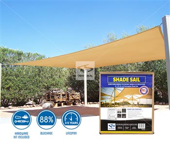 Rectangle Shade Sails - 1625 Series 88%