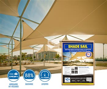 Triangle Shade Sails - 1625 Series 88%