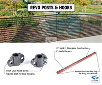 Fiberglass Fence & Netting Posts & Poles- Attachment Series
