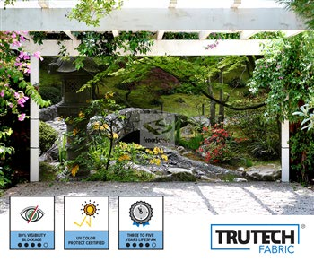 Garden With Stone Bridge Patio Screen - 212 Series 80%