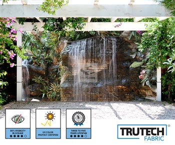 Tropical Garden With Waterfall Screen - 212 Series 80%