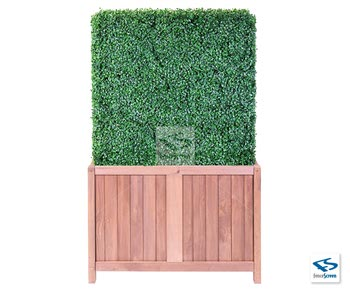 6ft Artificial Boxwood Hedge-With 24in Hampton Classic Planter Box